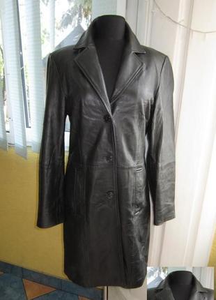 Классическая  женская кожаная куртка-плащ gipsy by mauritius. лот 546