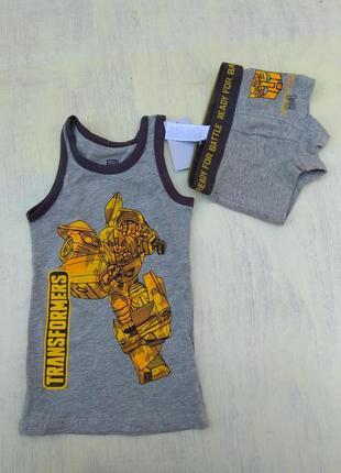 Комплект белья для мальчика майка+трусики боксерки authentic transformers