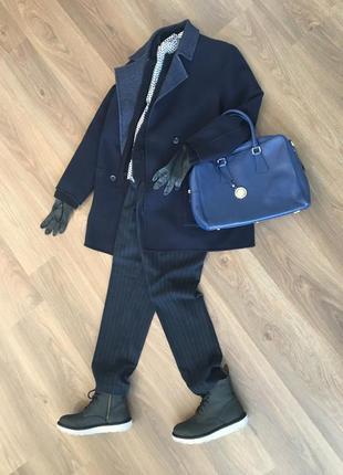 Прекрасная итальянская сумка насыщенного синего цвета jacky&celine в стиле furla capriccio