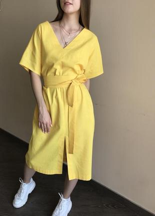 Летнее платье из льна1 фото