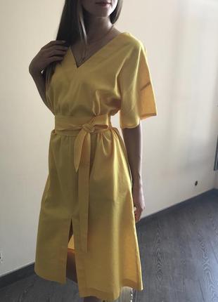 Летнее платье из льна3 фото