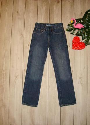 7-8 лет джинсы прямого кроя, высокая посадка