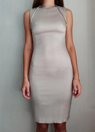 Коктейльное платье цвета шампань