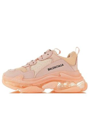 Женские кроссовки balenciaga triple s clear sole trainer pink