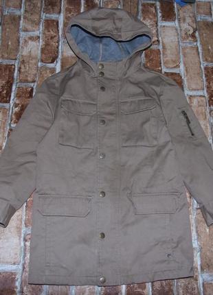 Куртка парка мальчику деми 8 лет river island