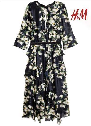Шелковое платье. h&m conscious exclusive.