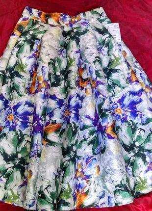 Шикарная юбка миди h&m1 фото