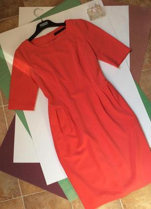 Платье футляр eleni viare ,коралловый цвет,идеальное состояние