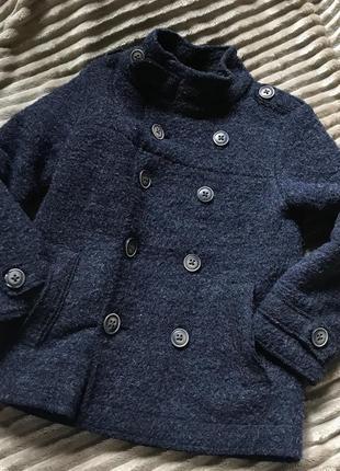 Тепле пальто-тренч