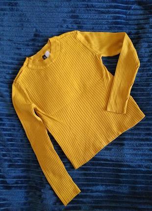 Горчичный свитер, джемпер размер 42-44, s