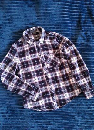 Клетчатая трёхцветная рубашка  primark размер s