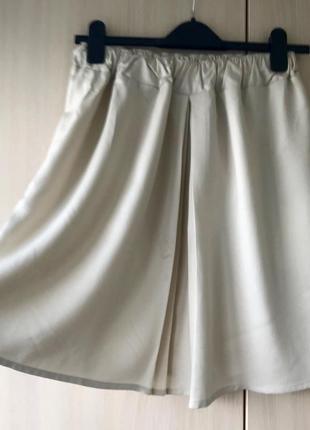 Кремовая юбка benetton / xs / шерсть