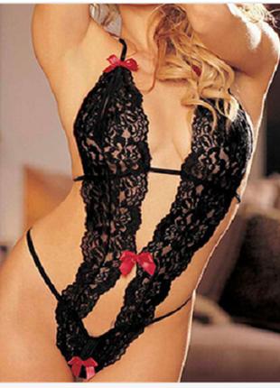 Эротическое белье - боди с бантиками