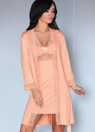 Shirleena livia corsetti вискозный комплект домашняя одежда ночнушка и халат