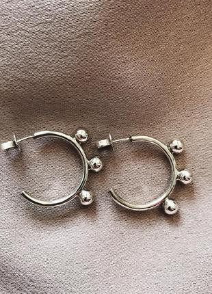 Серебряные серьги 925 пробы. серёжки из серебра. ручная работа