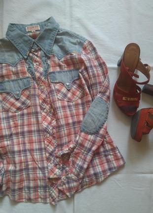 Рубашка джинс сорочка ковбой