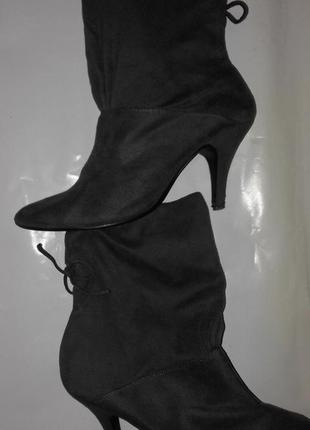 Ботинки женские из материала под замш,39р3