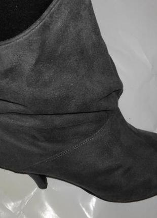 Ботинки женские из материала под замш,39р4