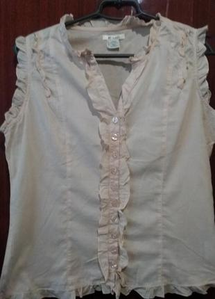 Блузка  пудрового цвета