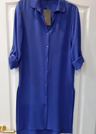 Платье туника с разрезами рубашка