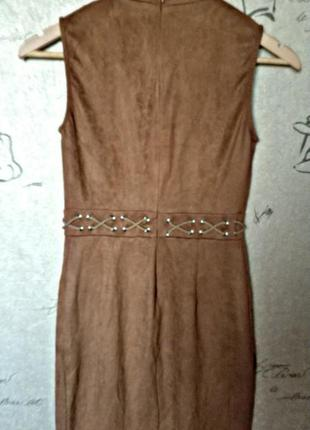 Шикарное замшевое платье2 фото
