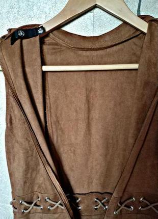 Шикарное замшевое платье3 фото