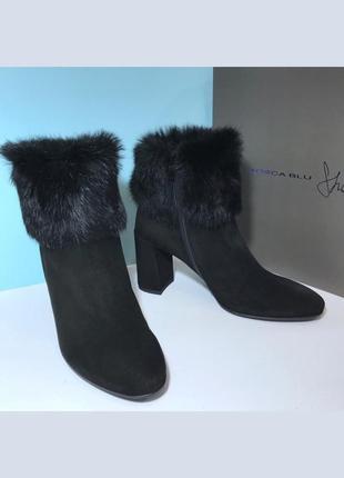 Женские черные демисезонные ботинки tosca blu (италия)