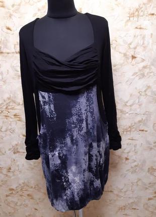 Очень класное оригинального кроя платье с карманами из плотного трикотажа, размер 44-46