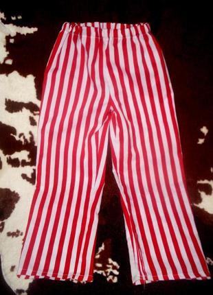 Брюки штаны для костюма пирата ростом 122-128 см