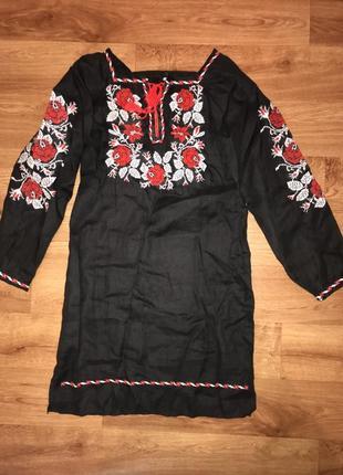 Супер стильная вышиванка платье