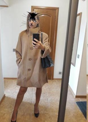 Шерстяное пальто из альпаки италия