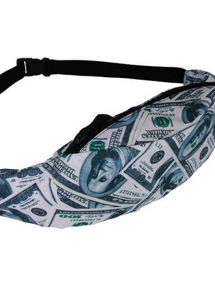 Оригинальная бананка, барыжка, сумка на пояс, поясная сумка доллары купюры