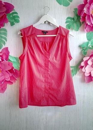 Кофточка блузка актуальная малиновая фирменная без рукавов под пиджак h&m s