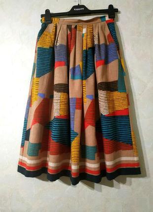 Lucie linden/шикарная винтажная юбка миди 70-80х годов/юбка миди плиссе винтаж ретро