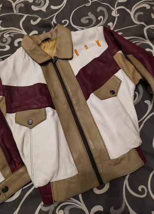 Крутая кожаная куртка 100%кожа harley davidson