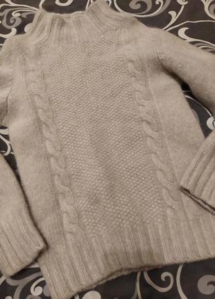 Мягкий нежный свитер harley75%superfine wool25% babyalpaca