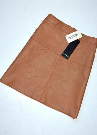 Forever 21.новая мини юбка из качественного кожзама. с-ка. рост 160 см