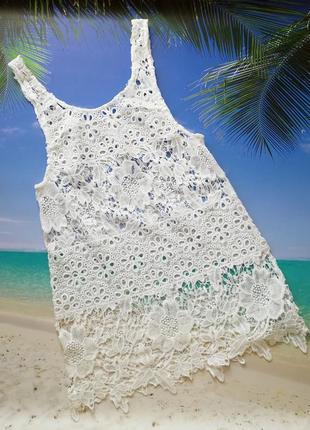 Платье ажурное выбитое