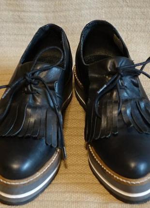 Крутые кожаные туфли-криперы another a, испания, 38 р.