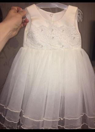 Платье betis с балеро на годик нарядное 74,80р {2 шт} можно для двойни