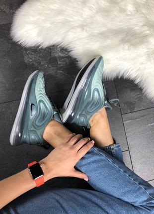 Шикарные женские кроссовки nike air max 720 light grey3 фото