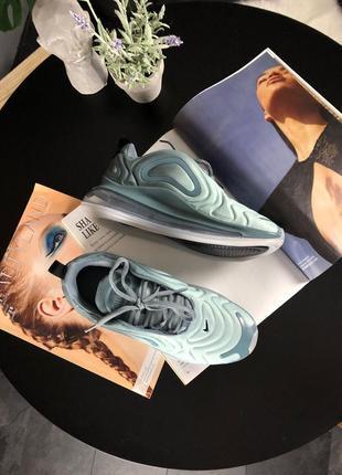 Шикарные женские кроссовки nike air max 720 light grey4 фото