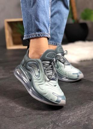 Шикарные женские кроссовки nike air max 720 light grey