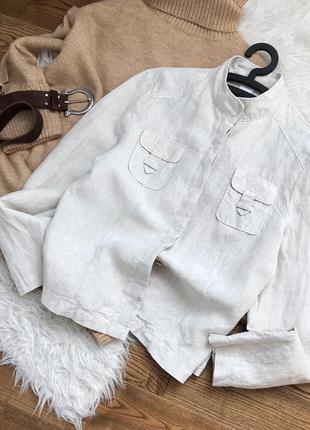 Сорочка в стилі сафарі, 100% натуральний льон!