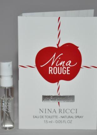 Nina ricci les belles de nina rouge (пробник) новинка 2019