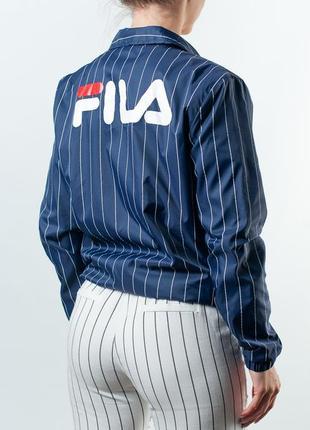 Женская куртка fila tall pin stripe windbreaker with logo back detail