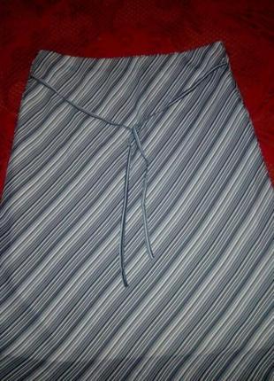 Расклешенная юбка в полосы