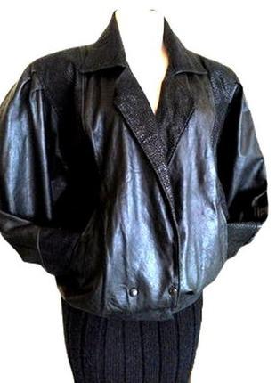 Идеальная черная кожаная женская куртка, полу пальто для пышного бюста