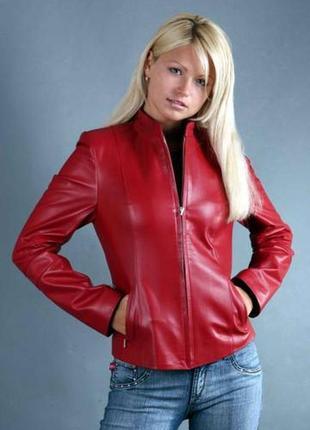 Красивая куртка марсала из 100 % кожи/ куртка/ бомбер /жакет /пиджак /кожаная куртка