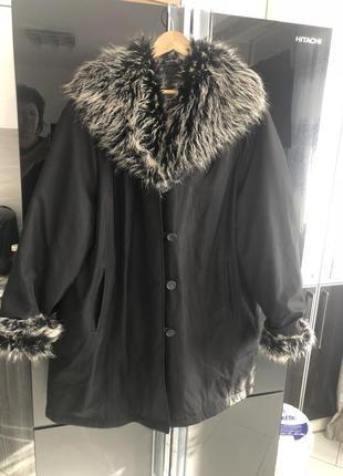 Куртка пальто с утеплением большой размер  р 54-58